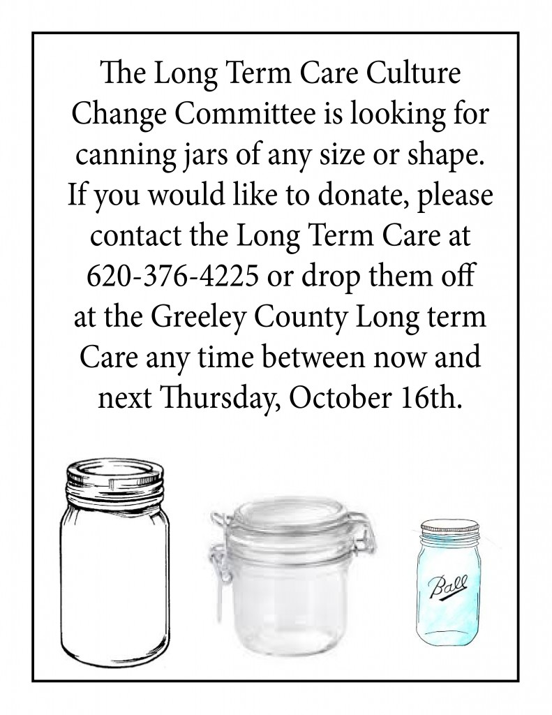 Canning Jars For Ltc Greeley County Health Services